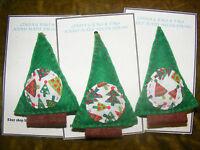Christmas Tree set of 3 Handmade Felt Hanging Decoration