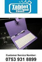 "Purple 7"" White Keyboard PU Leather Case 4 7"" ZT-280 C71 Zenithink upad Tablet"