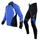 Sobike Cycling Suits Fleece Winter Jacket-Aurora Blue ,Fleece Tights-Cruise