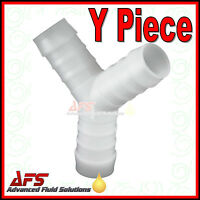 Y Piece Hose Joiner - Plastic Barbed Connector Pipe Fitting Air Fuel Water Fuel