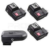 Camera PT-16 Channels Wireless/Radio Flash Trigger Transmitt SET w/ 3 Receivers