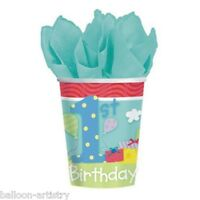 8 Happy 1st Special Boy Birthday Party Disposable 9oz Paper Cups