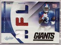 2011 Absolute NFL Rookie PRIME Materials - JERREL JERNIGAN #223 /50 - Giants