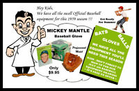 1959 Mickey Mantle Baseball Glove Store Poster Yankees - Buy Any 2 Get 1 FREE