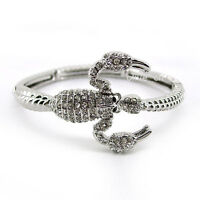 Exquisite Scorpion Animal Use Austria Crystal 18K White Gold-Plated Bangle