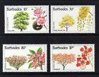 BARBADOS 1992 FLOWERING TREES SG 975-978 MNH.