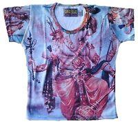 EINZELSTÜCK Lord GANESHA Popular Hindu Deity Dj Tattoo Art Designer T-SHIRT S
