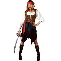 Caribbean Pirate Woman Fancy Dress Costume X LARGE Sizes 22 to 24