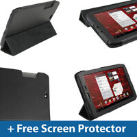 "Black PU Leather Case for Motorola Xoom 2 Media Edition 8.2"" Droid Xyboard Cover"