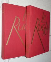 RARE ENCYCLOPEDIE RUGBY 2 TOMES 1958 XV FRANCE AVIRON LOURDES OVALIE CLUBS