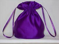 BNWOT Cadbury purple duchess satin dolly bag for bridesmaid/eveningwear