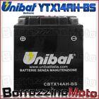 BATTERIA UNIBAT YTX14AH-BS 12V 12Ah YAMAHA YFM Moto 4 200 1985