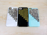 Hot Pyramid Luxury Stud Studs Spikes Rivet cover case For iphone 4 4S 4G US