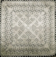 Vintage Knitting pattern-how to make shetland lace cobweb baby christening shawl