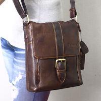 New Genuine Cowhide Leather Mens Women Cross Body Messenger Shoulder Bag6822/3/5