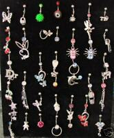 FAB WHOLESALE LOT 10 ASSORTED BELLY BARS BODY JEWELLERY