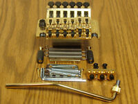 NEW Schaller Floyd Rose Locking TREMOLO Bridge & Whammy Bar Gold Guitar