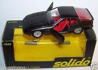 OLD SOLIDO PORSCHE 924 TURBO 1980 REF 1051 GRIS ANTHRACITE 1/43 IN BOX