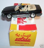 HACHETTE SOLIDO MADE IN FRANCE MERCEDES 500 SL COUPE NOIRE METAL 1989 1/43 BOX