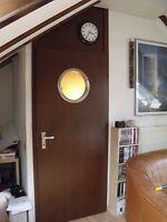Türbullauge Edelstahl 38,5cm rund Zimmertür Bullauge Rundfenster Türfenster