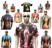 Jesus Christ Ave Maria Angel Religion Tattoo Motif Designer T-Shirt S M L XL XXL