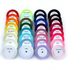 22 Metres of Satin Ribbon - 32 colours - 3 sizes - 25 yards per roll