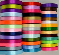 50 ROLLS OF 6 MM SATIN RIBBON 50 COLORS 25 YARDS each **BARGAIN