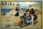 Cartello Ariel Scena Spiaggia Motocicletta Goffrato (hi 2030)