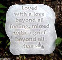 Memorial plaque plastic mold plaster concrete mould