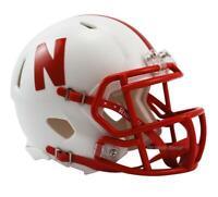 NEBRASKA CORNHUSKERS OFFICIAL NCAA MINI SPEED FOOTBALL HELMET by RIDDELL