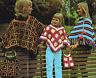 Vintage Crochet pattern-fab 1960s hippy granny square ponchos & bags-UK freepost