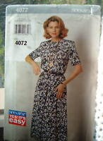 Butterick UNCUT Pattern 4072 VERY EASY Pullover Loose Fit Dress 16 18 20 22 24