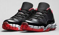 NIKE AIR JORDAN 11 LOW BRED US UK7 8 9 10 11 12 Red 528895-012 +BG GS KIDS 2015