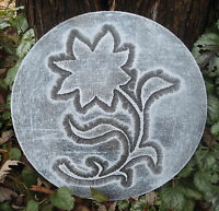 Flower  plaque plastic garden casting plaque mold mould  see more in my store