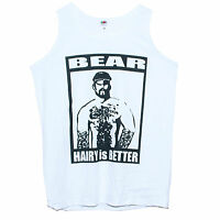 Hairy Man Bear T-shirt Vest Unisex Gay Clubbing Funny Party Tank Top Sizes S-XXL