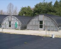 20 ft x 48 ft Low Sidewall Greenhouse Frame Package Kit