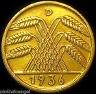 Germany - German Third Reich - German 1936D 10 Reichspfennig Coin