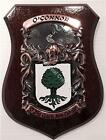 FOWLER to FURLONG Family Name Crest on HANDPAINTED PLAQUE - Coat of Arms