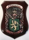MITCHELL to MONTGOMRY Family Name Crest on HANDPAINTED PLAQUE - Coat of Arms