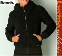 BENCH Teddyfleece Damen Fleece Jacke, schwarz, Gr. XS,S,M,L,XL NEU