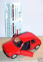 MINIATURE MADE FRANCE SOLIDO PEUGEOT 205 GTI ROUGE modèle 1984 1/43 blister box