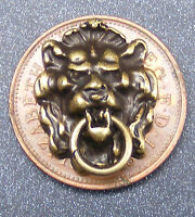 1:12 Scale Dolls House Miniature Metal Antiqued Lion Head Door Knocker Accessory
