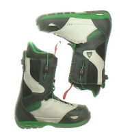 Used Burton Black, White & Green Ruler Snowboard Boots Men's Size