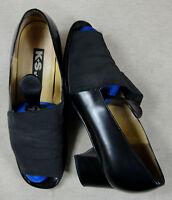 Tolle K+S Slipper Halbschuhe Sandalen Schuhe Leder blau Gr. 4,5 ca. 37,5 Top !!!
