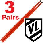 HOT STICKS Red 5A Nylon Tip hickory Drum Sticks 3 pairs