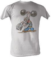 Licensed Popeye Sketch Adult Shirt S-2XL