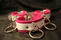 9 pc suede wrist ankle thigh cuffs set fushia or choose color costume role play