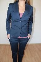 Ladies Boutique Blue 2 Piece Trousers Blazer Office Work Suit UK 8 10 12 14 16