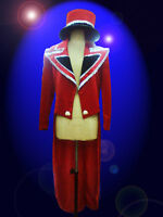 Cher Costume Circus Red Tail suit and Hat Showgirl Drag Queen Cabaret Show