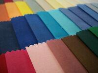 Plain Polycotton Fabric - High Quality - 114cm - Cut to Length - Free Postage